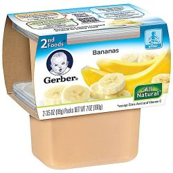 Gerber 2Nd Foods Natureselect Baby Food, Bananas, 2 Ea