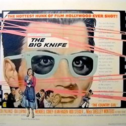 The Big Knife Movie Poster-Jack Palance/Ida Lupino/Clifford Odets Film Noir!