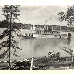Entering Yellowknife Harbor Northwest Territories Original Vintage Postcard