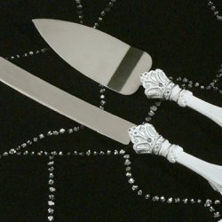 Cc454 Queen For A Day Cake And Knife Server Wedding Favors & Accessories