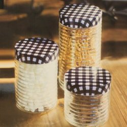 Glass Kitchen Canister Set Of 3 Black White Checkered Lids Modern 31885