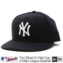 New York Yankees Mlb Authentic Baseball Cap 7-3/8 Osfa - Like New