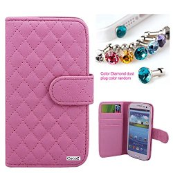 Cocoz® Samsung Galaxy S3 Colorful Mesh Leather Case Pu Leather Wallet Magnet There Are Card Slot Design ,For Samsung Galaxys3/I9300/Galaxy Siii (Pink)
