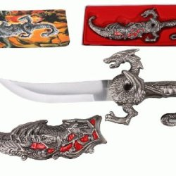 "10"" Fantasy Dragon Dagger With Gift Box (Red Fitting)"