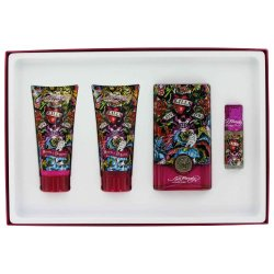 Ed Hardy Hearts & Daggers By Ed Hardy - Gift Set -- 3.4 Oz Eau De Parfum Spray + 3 Oz Body Lotion +