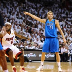 Dallas Mavericks V Miami Heat - Game Six, Miami, Fl - June 12: Dirk Nowitzki Photographic Poster Print By Garrett Ellwood, 16X16