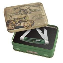 Case Cutlery 15711 Case John Deere Corn Cob Jigged Bright Green Medium Stockman, In Gift Tin Bright Green Bone