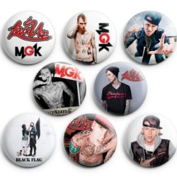 Machine Gun Kelly Mgk Pinback Buttons 8Pcs 1.25 Inch