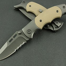 Serrated Tactical Survival Rescue Camping Pocket Knife Blnlp-6.49''
