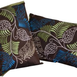 Best Selling Ferns Pillow, 20-Inch, Brown, Set Of 2
