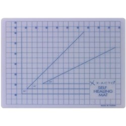 X-Acto 8-1/2-Inch By 12-Inch Self-Healing Cutting Mat, Translucent White