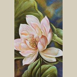 Modern Art Canvas Flower Blooming Palette Knife Art Wall Art Artwork For Home Decor 18X12 In/45X30Cm Unframed