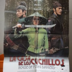 Original Spanish Movie Poster Shi Mian Mai Fu The House Of The Flying Daggers La Casa De Los Cuchillos Ziyi Zhang Yimou Zhang 2004