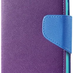 Reiko 3-In-1 Wallet Case With Interior Leather-Like Material And Polymer Cover For Blu Studio 5.0 D530 - Retail Packaging - Purple