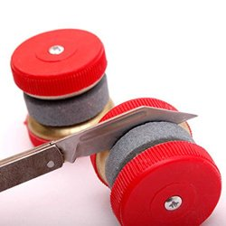Mini Kitchen Knife Sharpener Stone Abrader Two Grinding Wheels Sharpening Tool