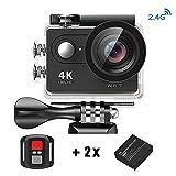 Daping Action Camera Sport 4K WiFi con Telecomando 2.4G, 1080P / 30 fps e Full HD, 2 Pollici Lcd + 170 ° Grandangolare, Impermeabile fino a 30m, Videocamera con 2 Batterie + Vari Accessori