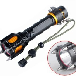 Hkbayi 2000 Lumen Led Flashlight Cree Xml Xm-L T6 Torch Camping Equipment The Lamp Lamps With Rivet Knife Alarm Waterproof