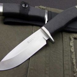 Buck 768 Hunting Fixed Camping Survival Knife Silver Blade