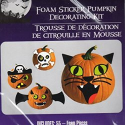 Halloween Foam Pumpkin Decorating Kits - Makes 4