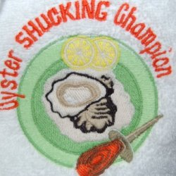 Mardi Gras New Orleans Oyster Shucking Champion Neck Towel - Oyster Festival - Spa, Gym Towel, Turkish Cotton