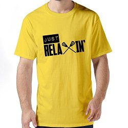 Durable Just Relaxin Men Tee Shirts