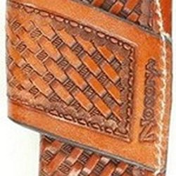 Nocona Men'S Basketweave Leather Horizontal Knife Sheath Tan One Size
