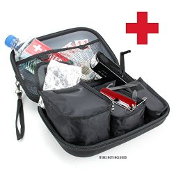 Usa Gear Protective Stormproof Emergency Survival Kit Case With Room For Flashlights , Water , Solar Blankets , Band-Aids , Pocket Knives And More - Perfect For Emergencies , Earthquakes , Car Kits And First Aid Kits **Includes Micro-Usb And Cleaning Brus