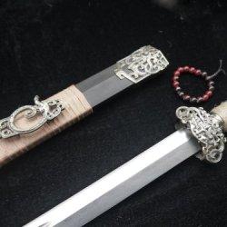 Han Jian/Damascus Steel/Black Wooden/Alloy Fittings/Full Tang Emperor Sword Sale