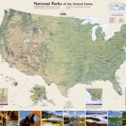 United States National Parks [Tubed] (National Geographic Reference Map)