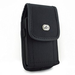 Vertical Heavy Duty Rugged Canvas Belt Clip Case Cover Pouch Holster For Blackberry Z10 & Surfboard & London & Stl100-4