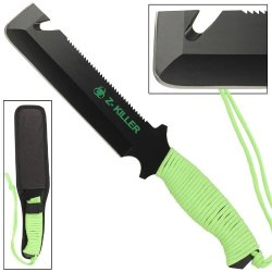 Wicked Zombie Killer Mean Green Gut Hook Tactical Knife