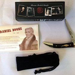 """Daniel Boone Knife Co. """"Tennessee Toothpick"""" 2 1/4"""" X 3/8"""" Boone Folding Pocket Knife (5 1/4"""" Long Opened)"""