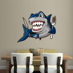 Full Color Wall Decal Vinyl Sticker Decor Art Bedroom Design Mural Like Paintings Fish Shark Fork Knife Kitchen (Col457)