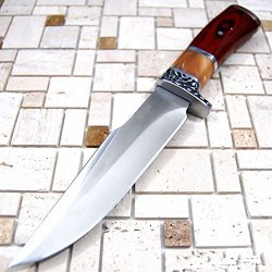 "10.5"" Stainless Steel Survival Skinning Hunting Knife Wood Handle Bowie 6856-"