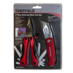 Sheffield 58144 2-Piece Multi-Tool And Utility Knife