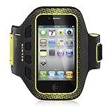 Belkin EasyFit Sportsarmband für Apple iPhone 4/4S schwarz/gelb