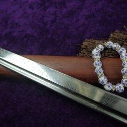 Tang Dao Sword Sale/Full Tang Handmade/Damascus Steel/Mahogany/Katana Archetype