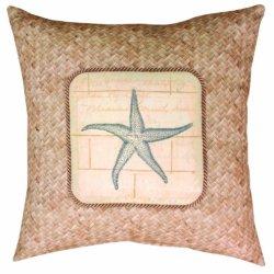 Manual Climaweave Indoor/Outdoor Throw Pillow, Ocean Treasures Starfish, 20-Inch