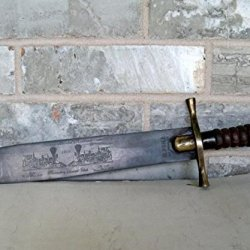 "M. Price San Francisco 12"" Blade Big Bowie Knife 1869 Transcontinental Railroad"