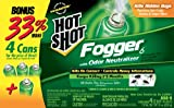 Hot Shot 96181 Indoor Pest Control Fogger, 4-Count Bonus Size