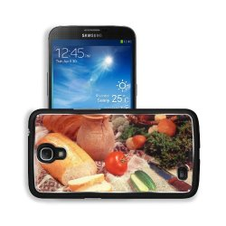 Cucumber Bread Tomato Baked Goods Herbs Knife Samsung Galaxy Mega 6.3 I9200 Snap Cover Premium Aluminium Design Back Plate Case Customized Made To Order Support Ready 6 5/8 Inch (168Mm) X 3 9/16 Inch (91Mm) X 4/8 Inch (12Mm) Liil Galaxy Mega 6.3 Professio