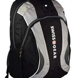"Swiss Gear The Mercury 16""Padded Laptop Backpack/School Travel Bag With Stabilizing Base Technology - Black/Grey"