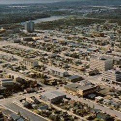 Downtown City Of Yellowknife Northwest Territories Original Vintage Postcard