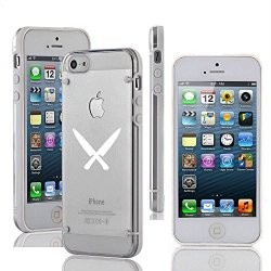 Apple Iphone 5 5S Ultra Thin Transparent Clear Hard Tpu Case Cover Chef Knives (White)