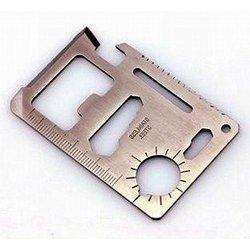 Huayuan 11 In 1 Multi Emergency Outdoor Survival Pocket Knife Tool Function Credit Card Steel