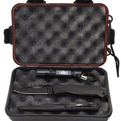 Uzi Uzi-Tacpak-1 Tactical Combo 2.75-Inch Stainless Steel Folding Knife, Tactical Pen And Led Flashlight