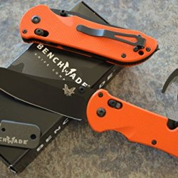 Benchmade 915Bk-Org Triage Rescue Knife W/ Seatbelt Cutter / Glass Breaker Tip And A Free Benchmade Sharpener