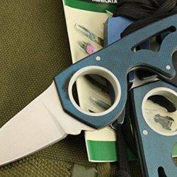 Opening Blue Claw Speedster Finger Hole Knife Glbywn-5.23''