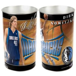 Wincraft, Inc. Nba Tapered Wastebasket - Dallas Mavericks - Dirk Nowitzki