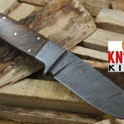 "Massive Sale"" Knife King Custom Damascus Handmade Hunting Knife. With Leather Sheath. Top Quality"